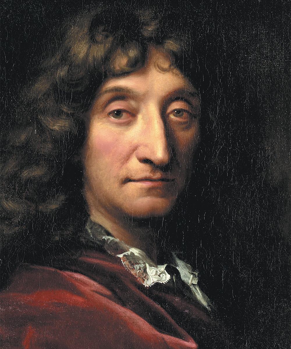 Détail de : Portrait de Jean de la Fontaine par François de Troy ©Bibliothèque de Genève