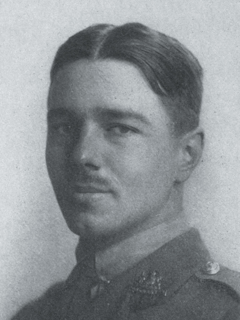 Détail de: Portrait de Wilfred Owen, gravure, publié dans Poems by Wilfred Owen, Chatto & Windus, London, 1920