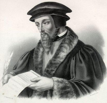 Jean Calvin, lithographie de Lemercier, 2e moitié du XIXe siècle, MC 55, Musée Jean Calvin, Noyon.
