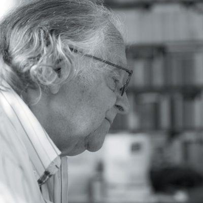 Portrait de Pierre Dhainaut par Jean-Marie Dautel pour la bibliothèque municipale de Lille