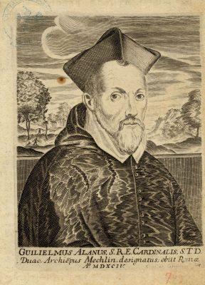 William Allen, Guilielmus Alanus, SRE Cardinalis, gravure sur cuivre (détail), 1 planche, ca 1650 [BMDV, Albums Robaut 24-769]