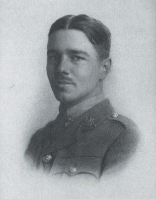 Portrait de Wilfred Owen, gravure, publié dans Poems by Wilfred Owen, Chatto & Windus, London, 1920