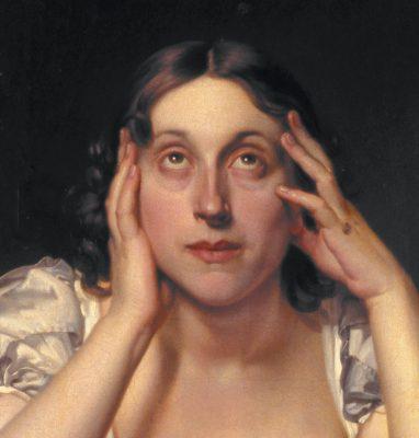 Détail de: Portrait de Marceline Desbordes, Constant Joseph Desbordes, n°inv.: 95 ©Douai, Musée de la Chartreuse. Photographe: Claude Theriez