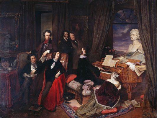 Josef Danhauser (1805-1845), Franz Liszt au piano. Huile sur toile © BPK, Berlin, Dist RMN-Grand Palais – Jürgen Liepe